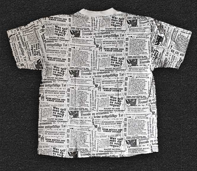 Rock 'n' Roll T-shirt - The Bates - Newsletter - Back