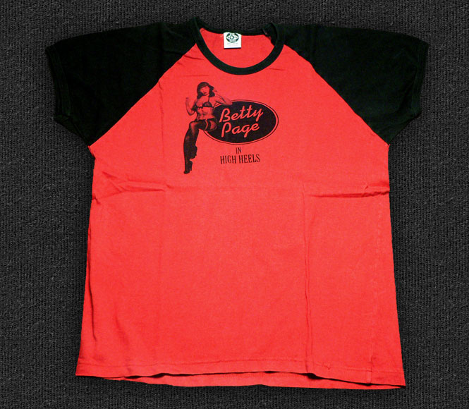 Rock 'n' Roll T-shirt - Betty Page In High Heels