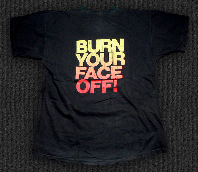 Rock 'n' Roll T-shirt - Bullet LaVolta-Burn Your Face Off - Back