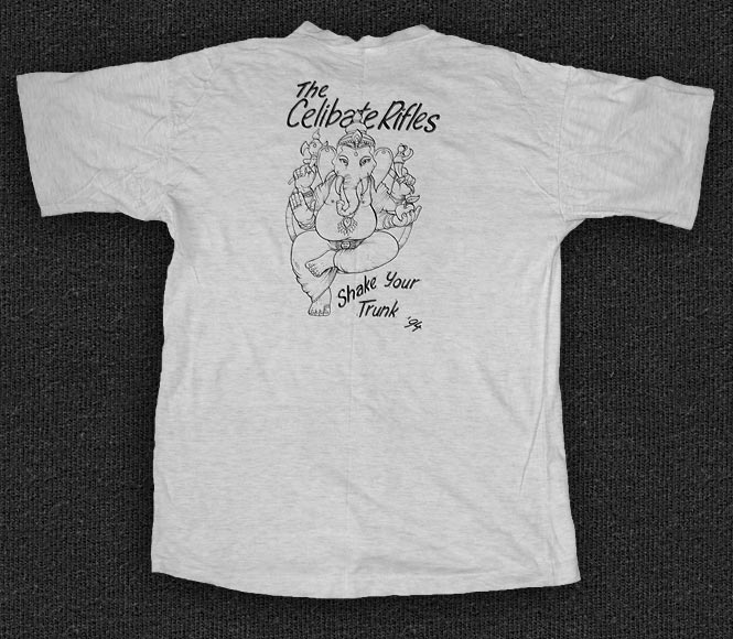 Rock 'n' Roll T-shirt - The Celibate Rifles-Spaceman In A Satin Suit - Back