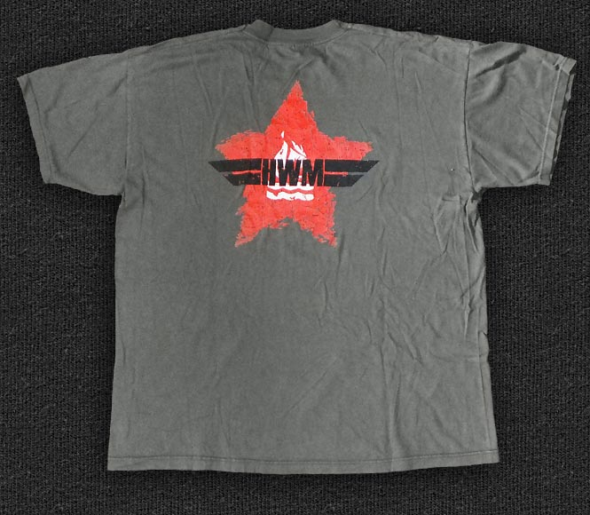 Rock 'n' Roll T-shirt - Hot Water Music - Red Star - Back
