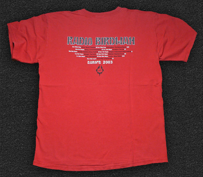Rock 'n' Roll T-shirt - Radio Birdman-Europe 2003 - Back