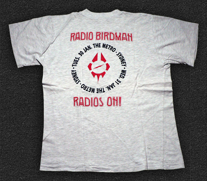 Rock 'n' Roll T-shirt - Radio Birdman-Radios On, Metro - Back