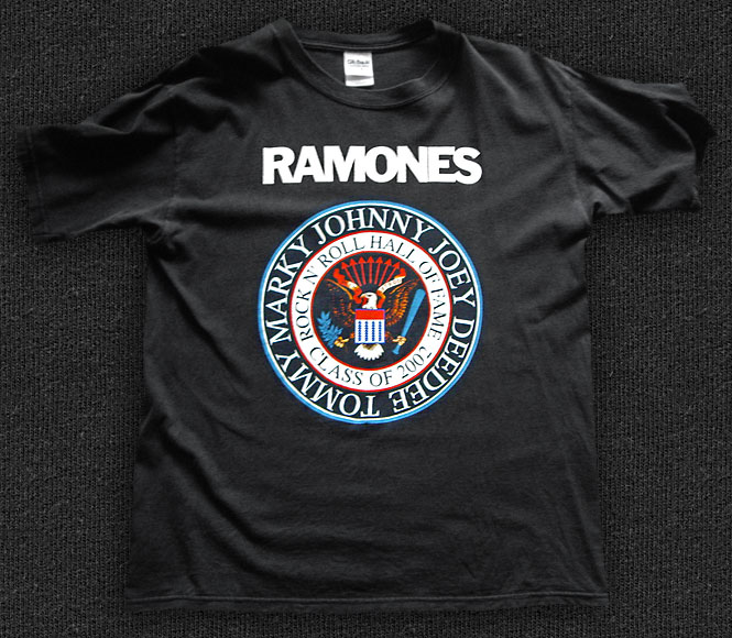 Rock 'n' Roll T-shirt - Ramones-R'n'R Hall OF Fame